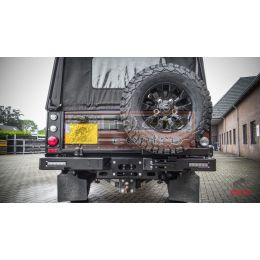 Tembo 4x4 rear bumper Defender 130 incl Winch frame wheel carrier and 2 recovery tow eyes - TB1110