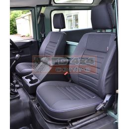 """90""""/110"""" R/H Front Outer Seat XS Black Rack (Leather) 2006-2007"""