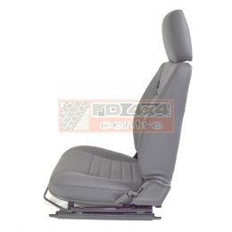 "90""/110"" Front Outer Seat - L/H - Grey Leather -  White Stitch"