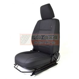 """90""""/110"""" R/H Front Outer Seat Black Leather - EXT303-BL"""