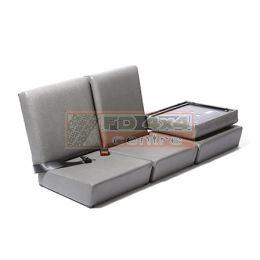 Standard Complete Front Seat Set Dark Grey Vinyl - EXT371-DGV