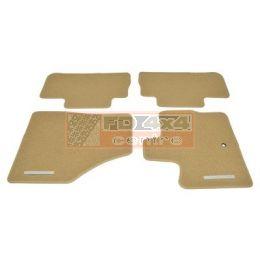Front & rear contour carpet set with rubber backing - LR002497