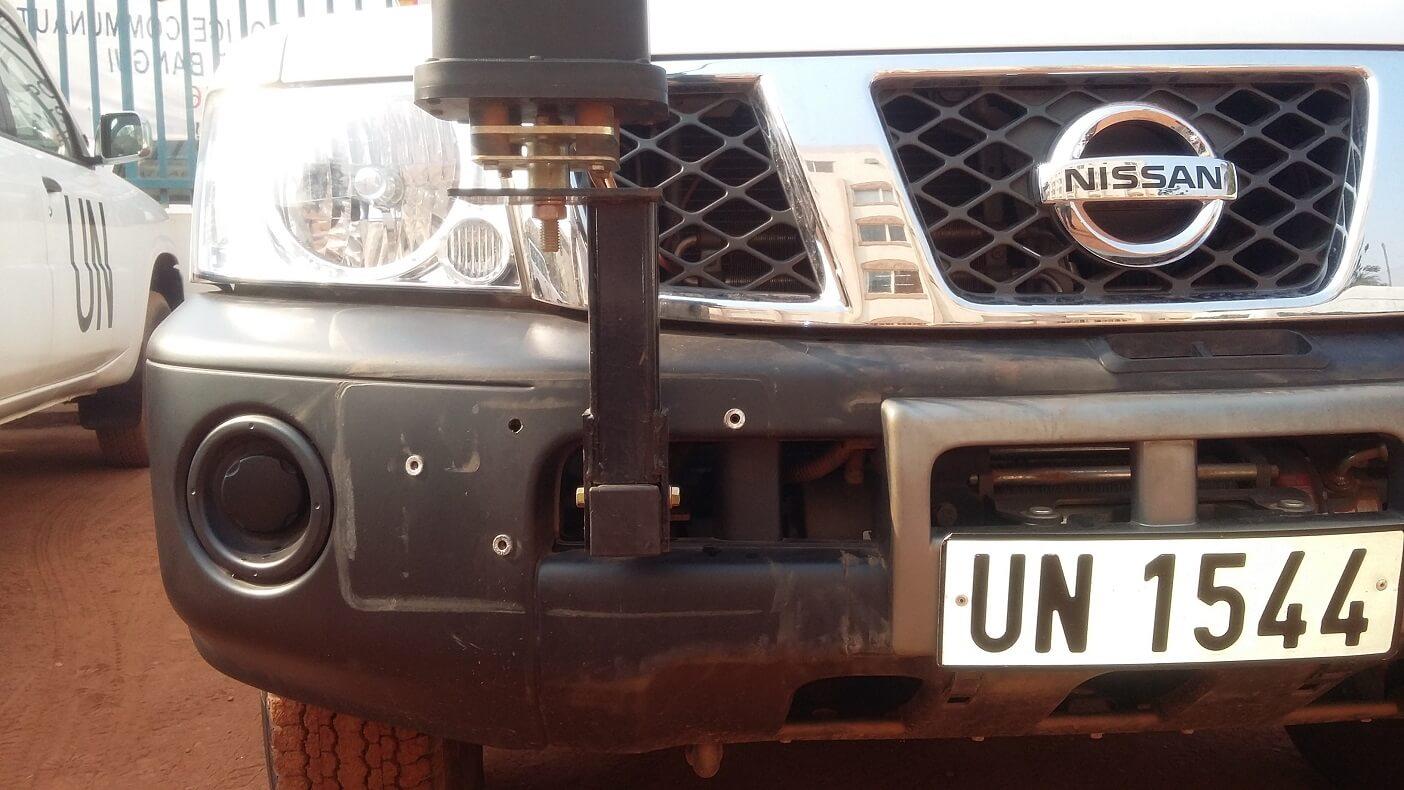 Codan antenna mount Nissan Patrol UN
