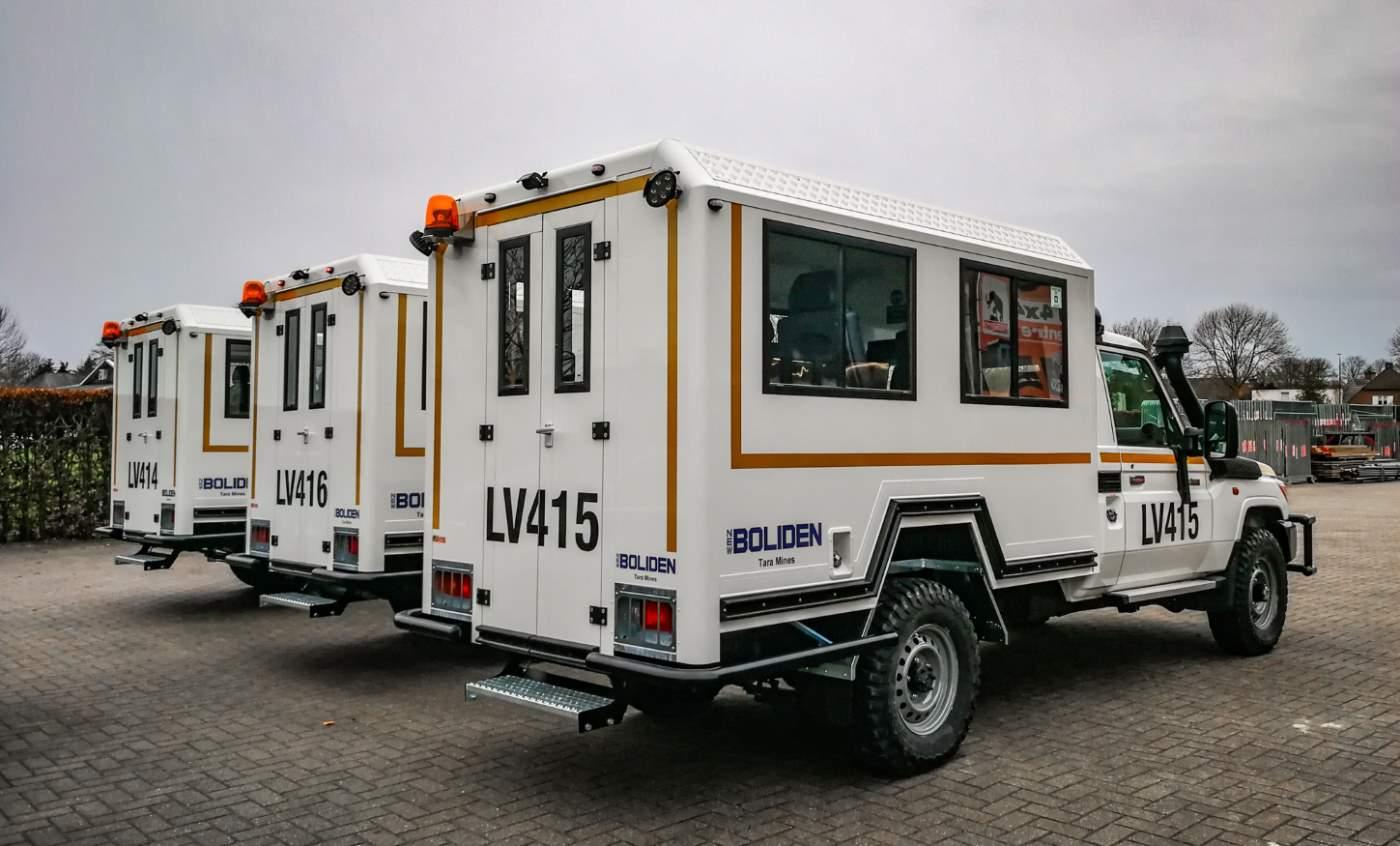 Mining vehicles landcruiser fleet