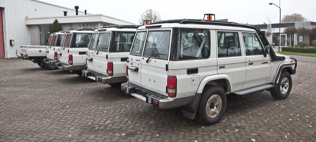 Mining vehicles fleet