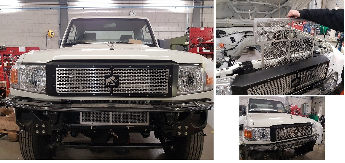 Custom grill land cruiser