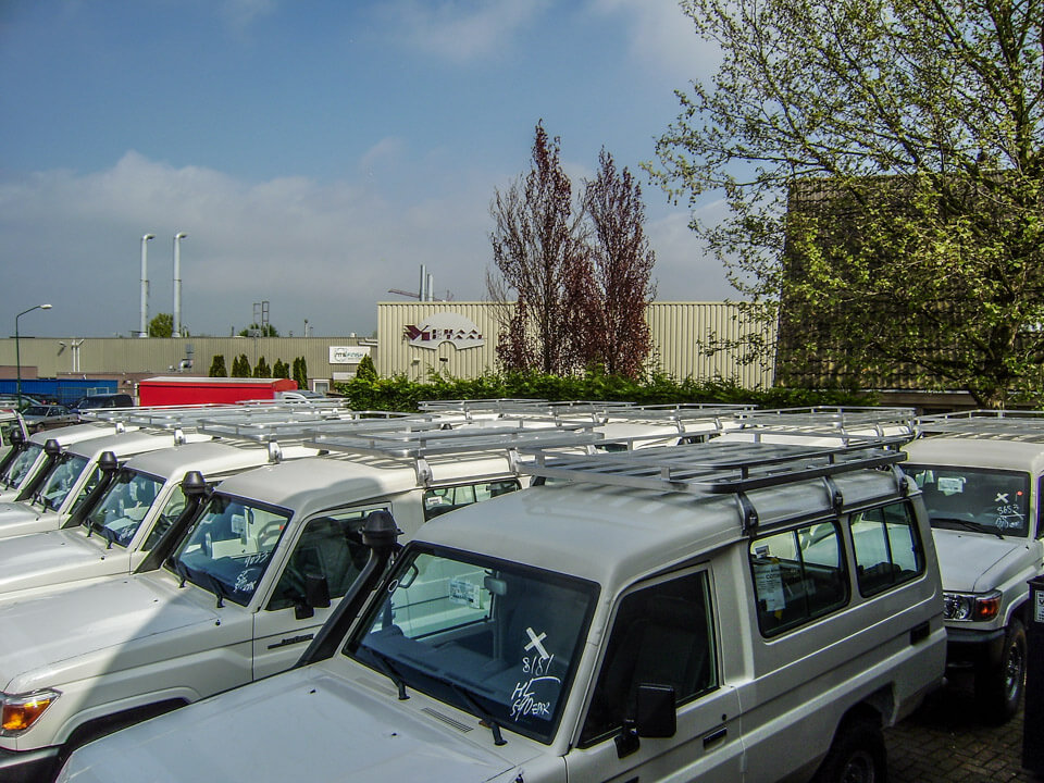 Toyota Landcruisers 70 series line up